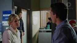 Mark Brennan, Ellen Crabb, Jack Callahan in Neighbours Episode 7392
