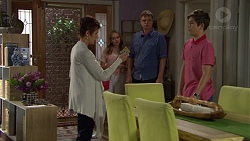Susan Kennedy, Xanthe Canning, Gary Canning, Angus Beaumont-Hannay in Neighbours Episode 7392