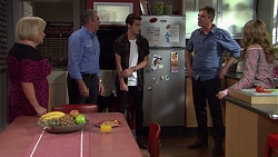 Sheila Canning, Karl Kennedy, Ben Kirk, Gary Canning, Xanthe Canning in Neighbours Episode 7393