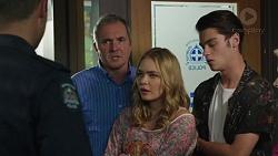Mark Brennan, Karl Kennedy, Xanthe Canning, Ben Kirk in Neighbours Episode 7393
