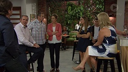 Brad Willis, Karl Kennedy, Toadie Rebecchi, Sonya Rebecchi, Piper Willis, Ben Kirk, Lauren Turner in Neighbours Episode 7393