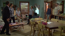 Paul Robinson, Amy Williams, Charlie Hoyland, Jimmy Williams, Steph Scully, Toadie Rebecchi in Neighbours Episode 7395