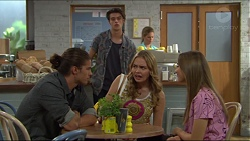 Tyler Brennan, Ben Kirk, Xanthe Canning, Piper Willis in Neighbours Episode 7397