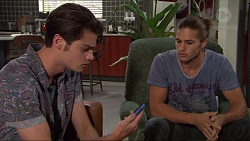 Ben Kirk, Tyler Brennan in Neighbours Episode 7402