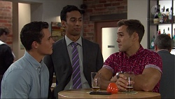 Jack Callaghan, Tom Quill, Aaron Brennan in Neighbours Episode 7404
