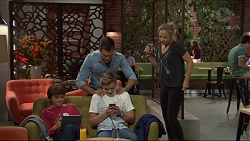 Jimmy Williams, Charlie Hoyland, Steph Scully, Mark Brennan in Neighbours Episode 7406