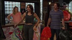 Sonya Mitchell, Paige Novak, Brad Willis in Neighbours Episode 7407