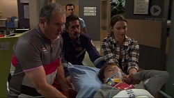 Karl Kennedy, Jack Callaghan, Jimmy Williams, Amy Williams in Neighbours Episode 7407