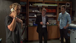Steph Scully, Paul Robinson, Mark Brennan in Neighbours Episode 7407