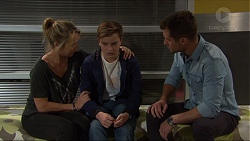 Steph Scully, Charlie Hoyland, Mark Brennan in Neighbours Episode 7407