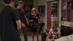 Ben Kirk, Gary Canning, Xanthe Canning, Sheila Canning in Neighbours Episode 7410