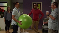 Amy Williams, Aaron Brennan, Tom Quill, Toadie Rebecchi in Neighbours Episode 7410