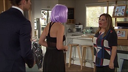 Tyler Brennan, Piper Willis, Terese Willis in Neighbours Episode 7411