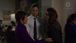 Susan Kennedy, Tyler Brennan, Elly Conway in Neighbours Episode 7411