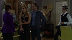 Susan Kennedy, Piper Willis, Brad Willis, Ben Kirk in Neighbours Episode 7411