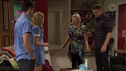 Ben Kirk, Xanthe Canning, Sheila Canning, Gary Canning in Neighbours Episode 7412