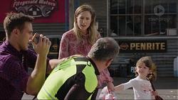 Aaron Brennan, Karl Kennedy, Sonya Mitchell, Nell Rebecchi in Neighbours Episode 7413