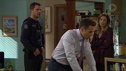 Mark Brennan, Aaron Brennan, Sonya Mitchell in Neighbours Episode 7414