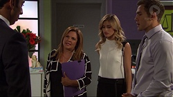 Tom Quill, Terese Willis, Madison Robinson, Aaron Brennan in Neighbours Episode 7415