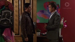 John Wong, Paul Robinson in Neighbours Episode 7415