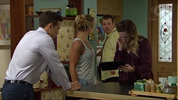 Aaron Brennan, Steph Scully, Toadie Rebecchi, Sonya Mitchell in Neighbours Episode 7416