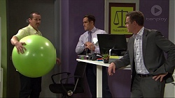 Toadie Rebecchi, Aaron Brennan, Paul Robinson in Neighbours Episode 7416
