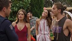 Mark Brennan, Paige Smith, Elly Conway, Tyler Brennan in Neighbours Episode 7416