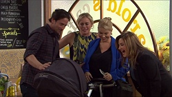 Brad Willis, Lauren Turner, Annie Robinson-Pappas, Lucy Robinson, Terese Willis in Neighbours Episode 7417