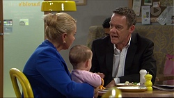 Lucy Robinson, Annie Robinson-Pappas, Paul Robinson in Neighbours Episode 7417