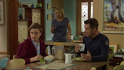Charlie Hoyland, Steph Scully, Mark Brennan in Neighbours Episode 7418