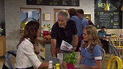 Elly Conway, Clive West, Xanthe Canning in Neighbours Episode 7419