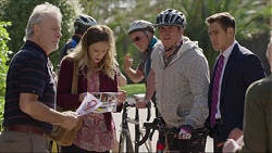Clive West, Sonya Mitchell, Karl Kennedy, Aaron Brennan in Neighbours Episode 7419