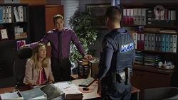 Sonya Rebecchi, Aaron Brennan, Mark Brennan in Neighbours Episode 7420