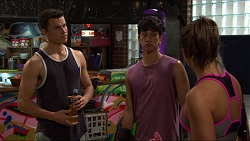 Jack Callahan, Dustin Oliver, Paige Smith in Neighbours Episode 7420