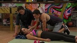 Brad Willis, Jack Callaghan, Paige Novak in Neighbours Episode 7421
