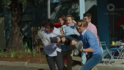 Bully no. 1, Bully no. 2, Charlie Hoyland, Archie Quill in Neighbours Episode 7421