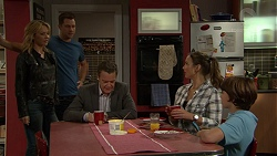 Steph Scully, Mark Brennan, Paul Robinson, Amy Williams, Jimmy Williams in Neighbours Episode 7422