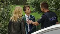 Archie Quill, Steph Scully, Mark Brennan in Neighbours Episode 7422