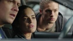 Mark Brennan, Paige Smith, Tyler Brennan in Neighbours Episode 7422