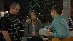 Toadie Rebecchi, Sonya Rebecchi, Aaron Brennan in Neighbours Episode 7423