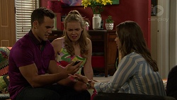 Aaron Brennan, Xanthe Canning, Amy Williams in Neighbours Episode 7424