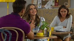 Aaron Brennan, Amy Williams, Elly Conway in Neighbours Episode 7424