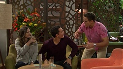 Amy Williams, Jack Callahan, Aaron Brennan in Neighbours Episode 7431