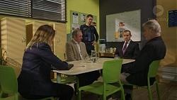 Sonya Rebecchi, Karl Kennedy, Mark Brennan, Toadie Rebecchi, Clive West in Neighbours Episode 7432