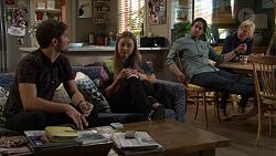 Ned Willis, Piper Willis, Brad Willis, Lauren Turner in Neighbours Episode 7433