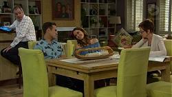 Karl Kennedy, Aaron Brennan, Elly Conway, Susan Kennedy in Neighbours Episode 7433