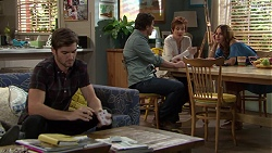 Ned Willis, Brad Willis, Susan Kennedy, Elly Conway in Neighbours Episode 7433