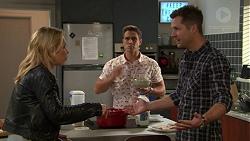 Steph Scully, Aaron Brennan, Mark Brennan in Neighbours Episode 7434
