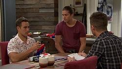 Aaron Brennan, Tyler Brennan, Mark Brennan in Neighbours Episode 7434