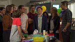 Amy Williams, Jimmy Williams, Toadie Rebecchi, Aaron Brennan, Tyler Brennan, Charlie Hoyland, Steph Scully, Mark Brennan in Neighbours Episode 7434